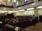 Group photo op in the Great Synagogue Cape Town