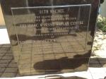 plaque at Kaplan center of Judaic Studies at University of Cape Town