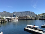 Cape Town harbor looking towards Table Mountain