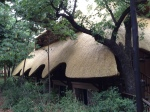 interesting architecture of our hotel at Victoria Falls in Zimbabwe